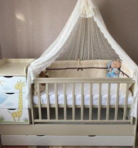 Кроватка трансформер детская(торг)
