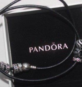 браслет + шармы PANDORA