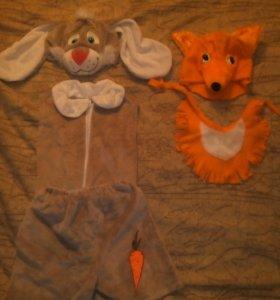 Костюм зайчика и лисы