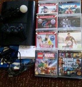 Игровая приставка PS3 super slim 500гб