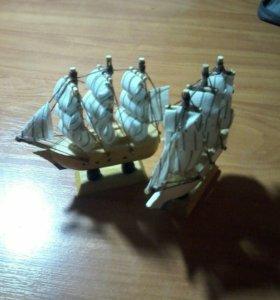 Кораблики сувенирные из дерева