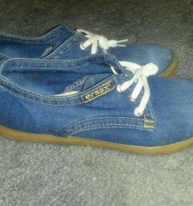 Туфли джинсовые 36