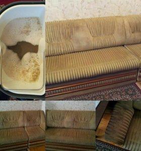 Профессиональная химчистка мягкой мебели и ковров