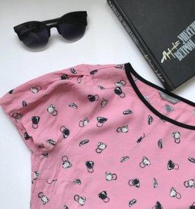 Розовая блузка