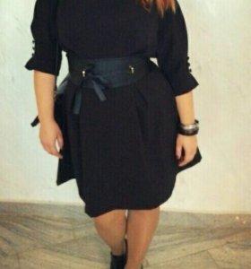 Черное платье 48-50 р-ра