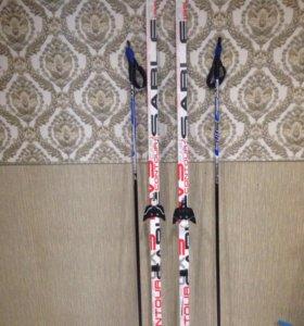 Лыжи, палки, ботинки