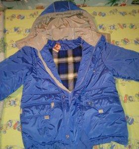 Куртка зимняя на мальчика рост 140-150 на мальчика