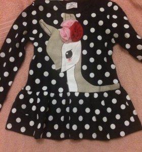 Детское платье, трикотаж
