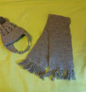 Шапка и шарф ручная работа