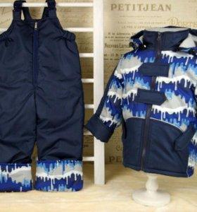 Новый комплект куртка и полукомбинезон весенний