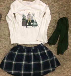 Кофта, юбка, колготки Gymboree
