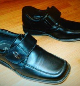 Ботинки, Туфли (кожа) для мальчика 28 р-р