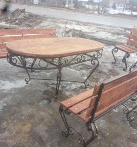 Стол и скамейка комплект