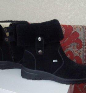 Ботинки зимние новые (натуральная замша, овчина)