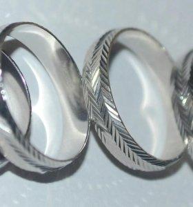 Кольца серебро.2+1