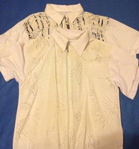 Рубашки мужские 2шт. на замке