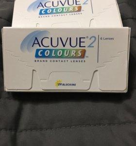 Зеленые линзы Acuvue colours -3,5