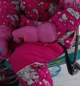 Зимний костюм huppa+ краги