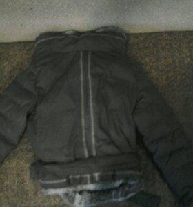 Куртка с кроличьим мехом