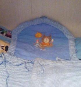 Боковинки на кроватку и балдахин для мальчика