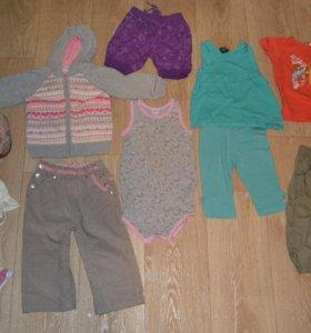 Одежда на девочку пакетом р.86