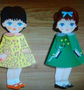 Бумажная кукла-книжка со стихами Машенька Оленька