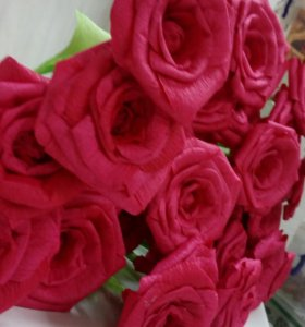 Розы из бумаги, цветочные/кофейные топиарии,букеты