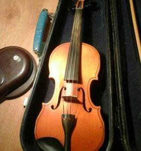 Скрипка 3/4 ЧЕХОЛ В ПОДАРОК И НОТНЫЙ СТАН