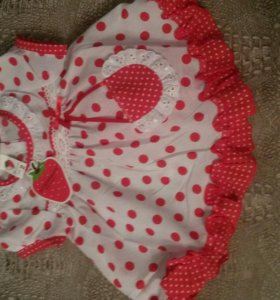 Новое детское платье с трусиками