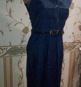 42р Платье джинсовое