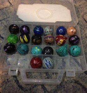 Игрушки бакуганы в пластиковом кейсе