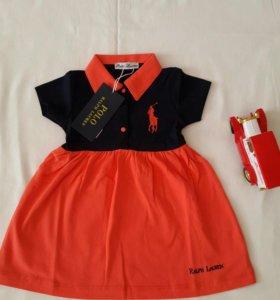Платье Ralph Lauren Polo 0-24мес