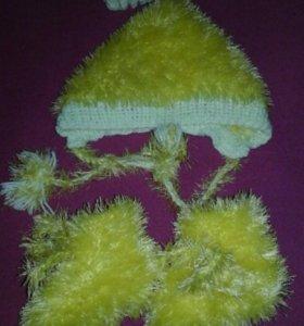 Набор(шапочка и носочки)