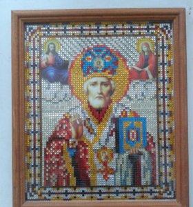 Картина-икона Николай Чудотворец.