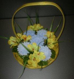 Букет из 5 мыльных цветков