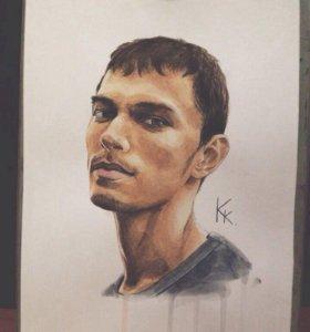 рисую портреты на заказ по фотографии