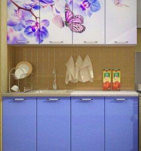 Новая Кухня с фотопечатью Бабочки