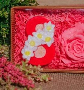 """Подарочный набор мыла """"8 марта. Роза"""""""
