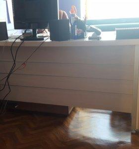 Стол большой офис светлый