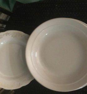 Посуда. _ ( тарелки, бокалы