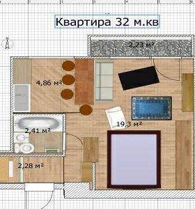Ремонт квартир 32 кв.м