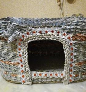 Плету на заказ домики и лежанки для ваших питомцев