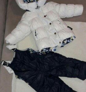 Зимний костюм для девочки 74+6