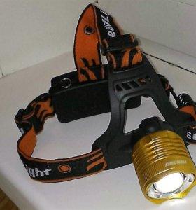 Налобный фонарь Cree T6 зум. Zoom Cree T6