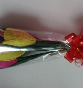 Букет из 5 сладких тюльпанов