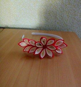 Ободок в стиле канзаши