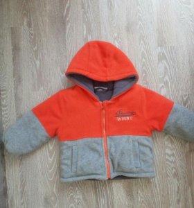 Осенняя тёплая курточка. Р80.