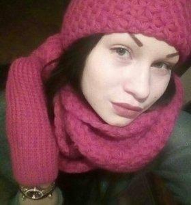 Набор шапка+шарф+варежки