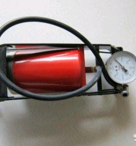 Автомобильный ножной насос с манометром