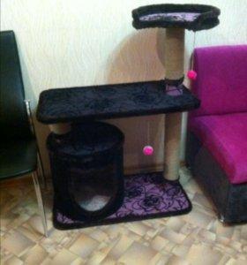 Домик для кошки, с когтеточками
